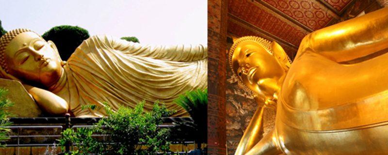Tempat Wisata Indonesia - Patung Budha Tidur Trowulan vs Patung Budha Wat Pho Thailand