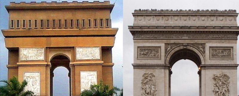 Tempat Wisata Indonesia - Monumen Simpang Lima Gumul, Kediri vs Arc de Triomphe, Perancis