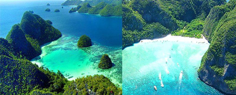 Raja Ampat, Papua vs Phi Phi Island, Thailand