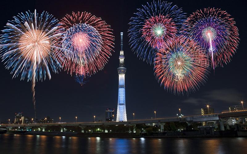 Daftar Festival Musim Panas di Jepang - Festival Kembang Api Sumidagawa