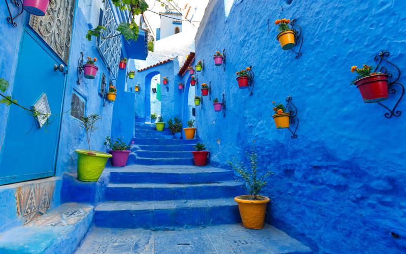 Kota Paling Berwarna di Dunia - Chefchaouen, Maroko